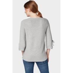 Photo of Tom Tailor Women's Rib Knit Sweater, Gray, Plain, Size L Tom TailorTom Tailor