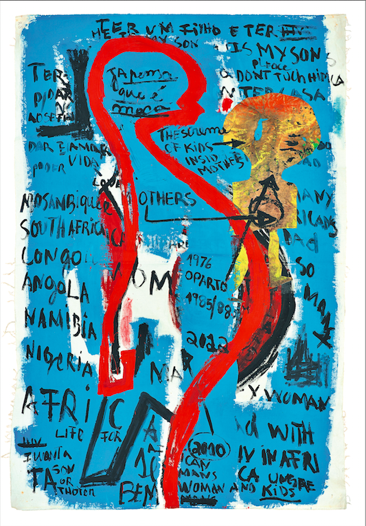 Adalberto Ferreira (Toy Boy), 'Pregnant Woman', 2014, Acrylic painting on canvas, 152cm x 107 cm, Courtesy of Tamar Golan Gallery  wields a practice wholly committed to social justice and change, issues that have remained close to his heart. For many years, Ferreira was involved in a pioneering hub of young artists based at Elinga Theatre, a longstanding space dedicated to theatre performance in Luanda. It was here that he produced some of his first photographic installations, paintings…
