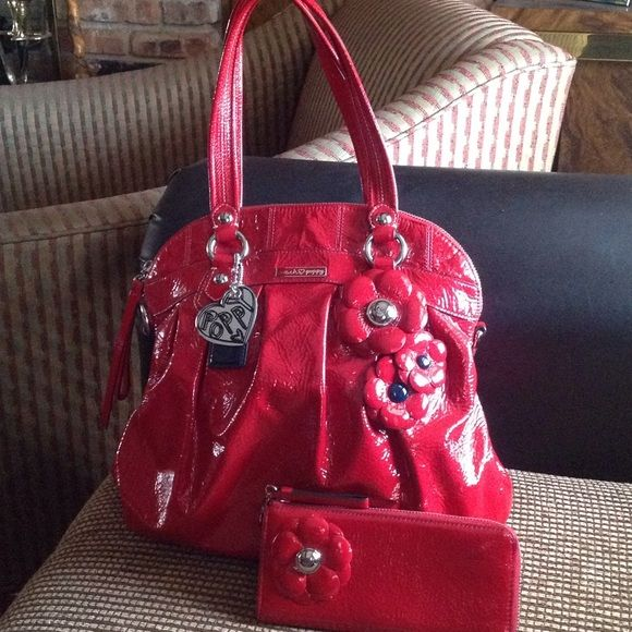 Coach red poppy flower purse best purse 2018 coach poppy flower handbag braided leather and red purple mightylinksfo