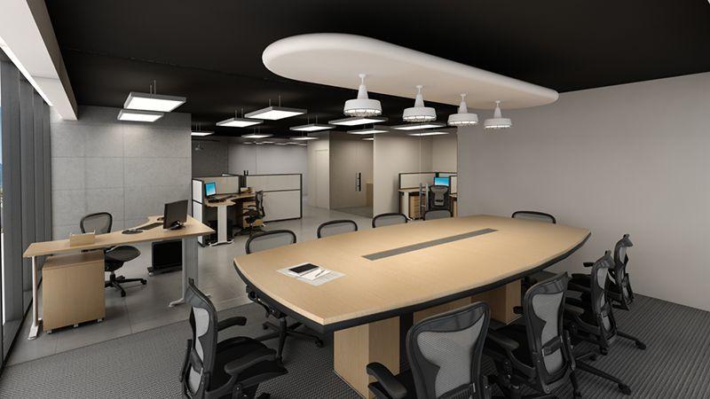 3d render diseño interior oficinas | oficinas | Pinterest | Oficinas ...
