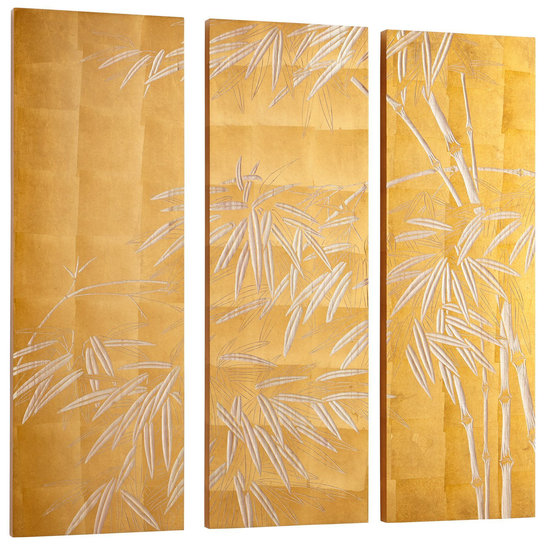 Oceania Bamboo Carved Wood Wall Art - Set of 3 by Cyan Design ...