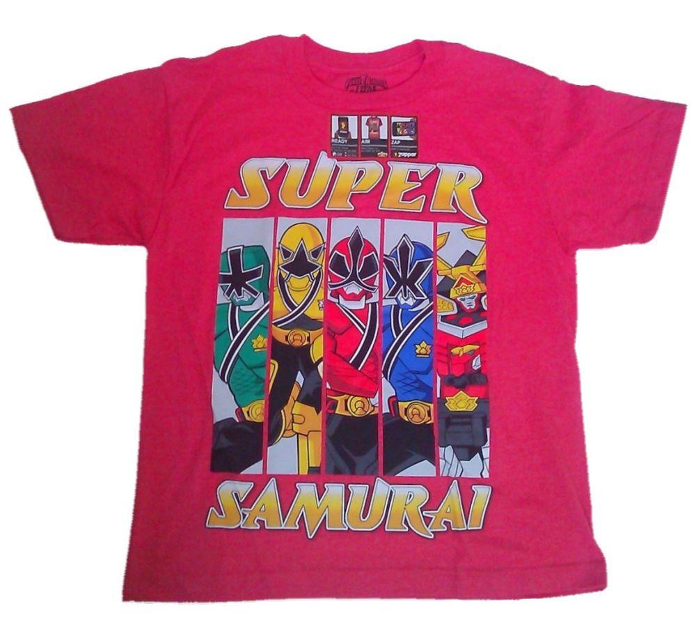 Saban Power Rangers Super Samurai Kids Boys Youth Zappar Shirt Tee Top NEW #PowerRangers #Everyday