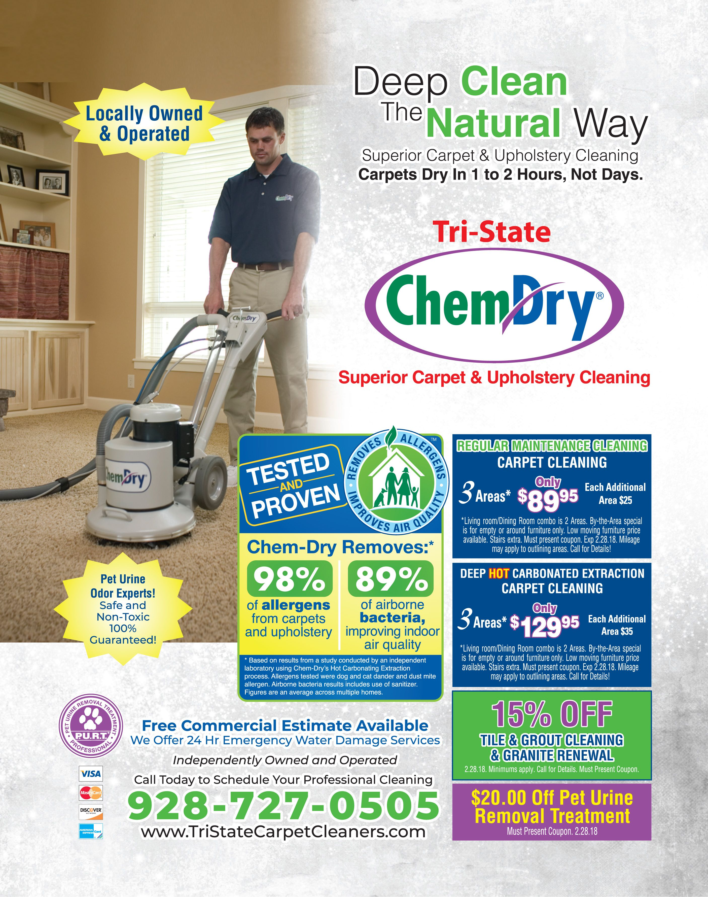 Hot Carbonate Your Carpets For Only 129 95 In 3 Areas Of Your Home With Tristatechemdry Adspay Homes Car How To Clean Carpet Cleaning Upholstery Chem Dry