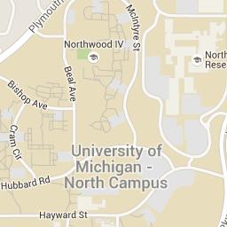 U M Campus Maps University Of Michigan Campus Map Map