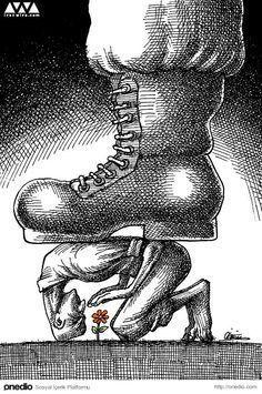 Sürgündeki İranlı Karikatürist Mana Neyestani'den Sistem Karşıtı 100 Karikatür #illustrationart