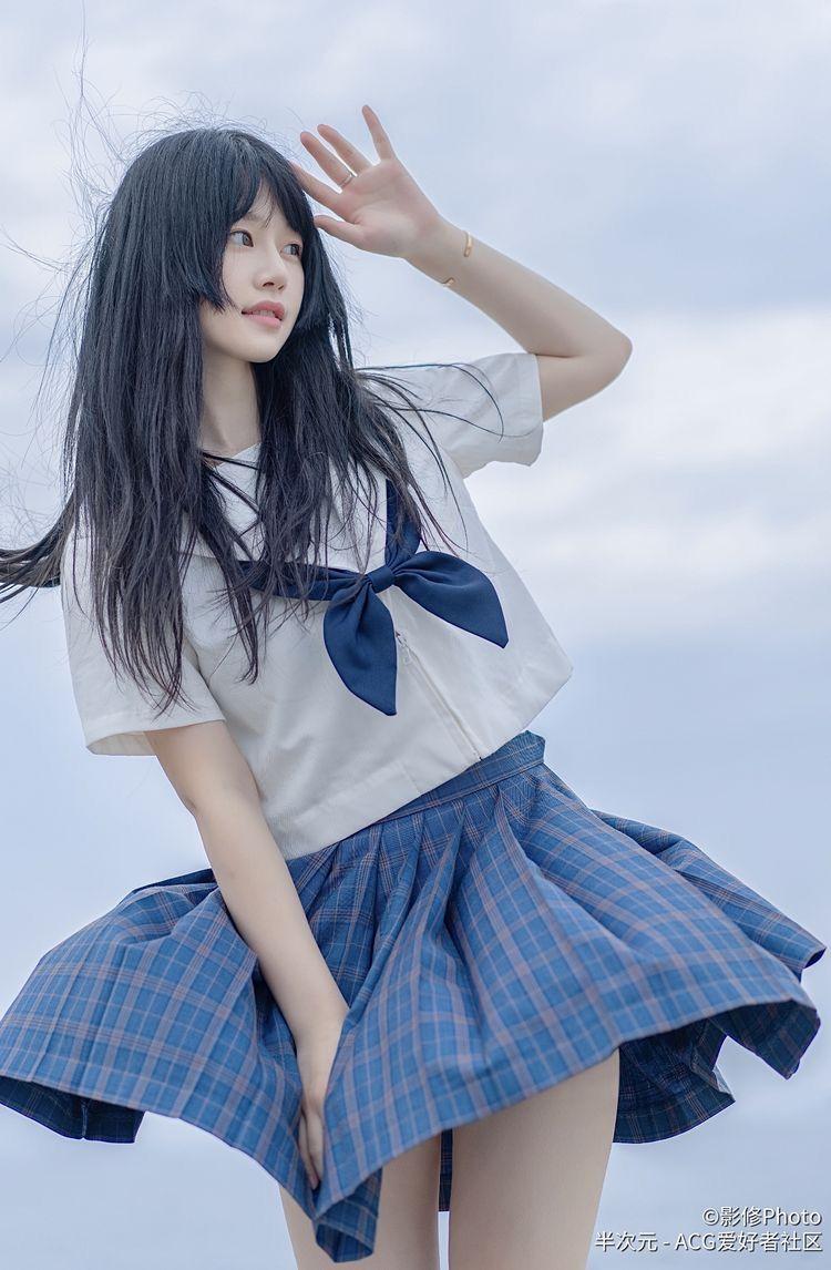 校園制服美少女 格子裙 裙擺飄搖》Cute Girl Pretty Girls 漂亮、可愛、無敵》青春就是無敵》