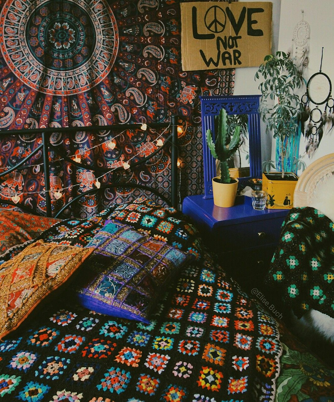 Bohemian Bedroom, Cozy Decor, Tumblr Rooms