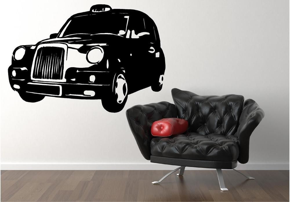 Vehicle · london taxi wall art sticker