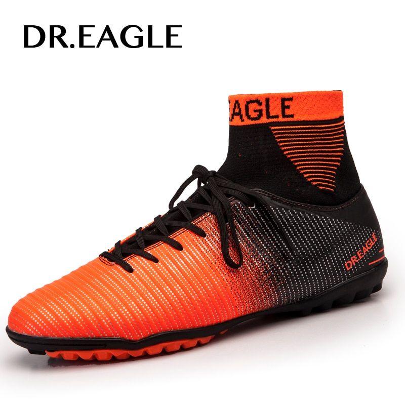 e19bcb900f1 EAGLE Indoor Turf TF Crampon High Ankle Futsal Football Boots Sneakers  Soccer Shoes Adult Futsal Sock Men Shoes EUR 38-45
