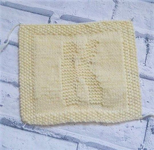 Knitting Pattern Alphabet Knit Pattern Knitted Square Pattern