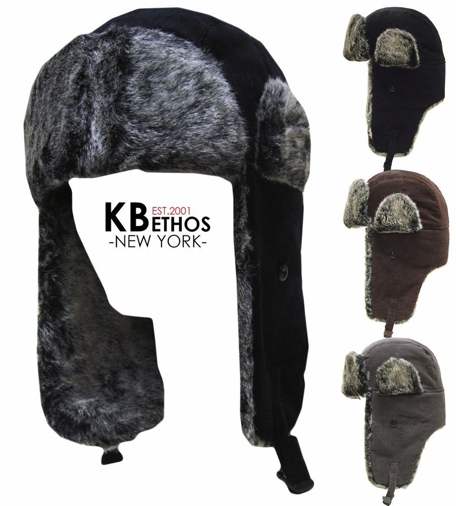 81b322e5c08 Trapper Bomber Aviator Russian Trooper Fur Earflap Winter Ski Hat Mens  Womens  KBETHOS  AviatorTrapper