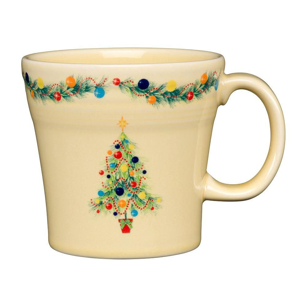 Fiesta 2020 Christmas Mug Fiesta 15 oz. Ivory Ceramic Christmas Tree Tapered Mug in 2020