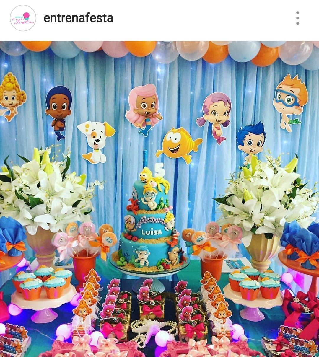 Bubble Guppies Birthday Party Dessert Table And Decor Bubble Guppies Birthday Party Bubble Guppies Party Bubble Guppies Birthday