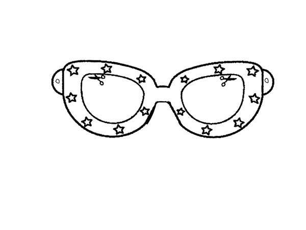 Star Decorated Eyeglasses Coloring Pages Kids Play Color Coloring Pages Color Online Coloring