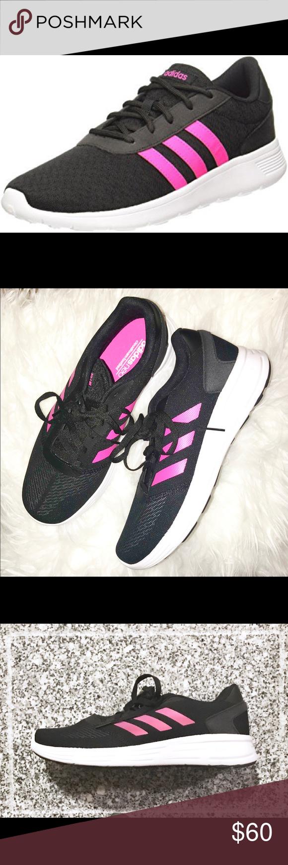 Adidas neo lite racer in scatola rosa accenti, adidas e atletica