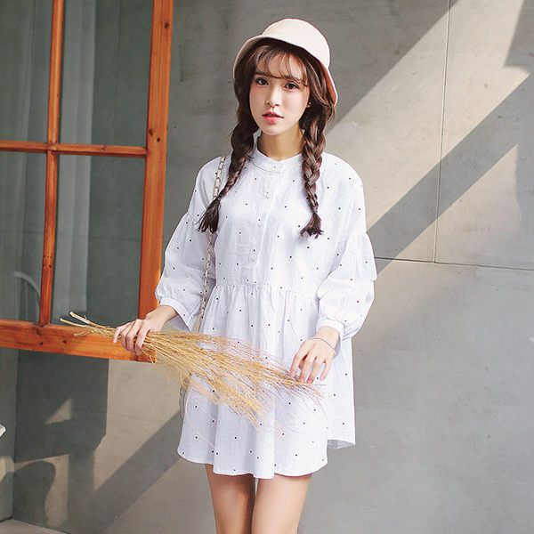 White asian style dress