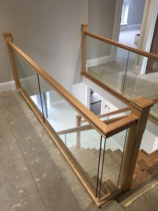 Best Hemlock And Bespoke Glass Balustrade Glass Staircase 400 x 300