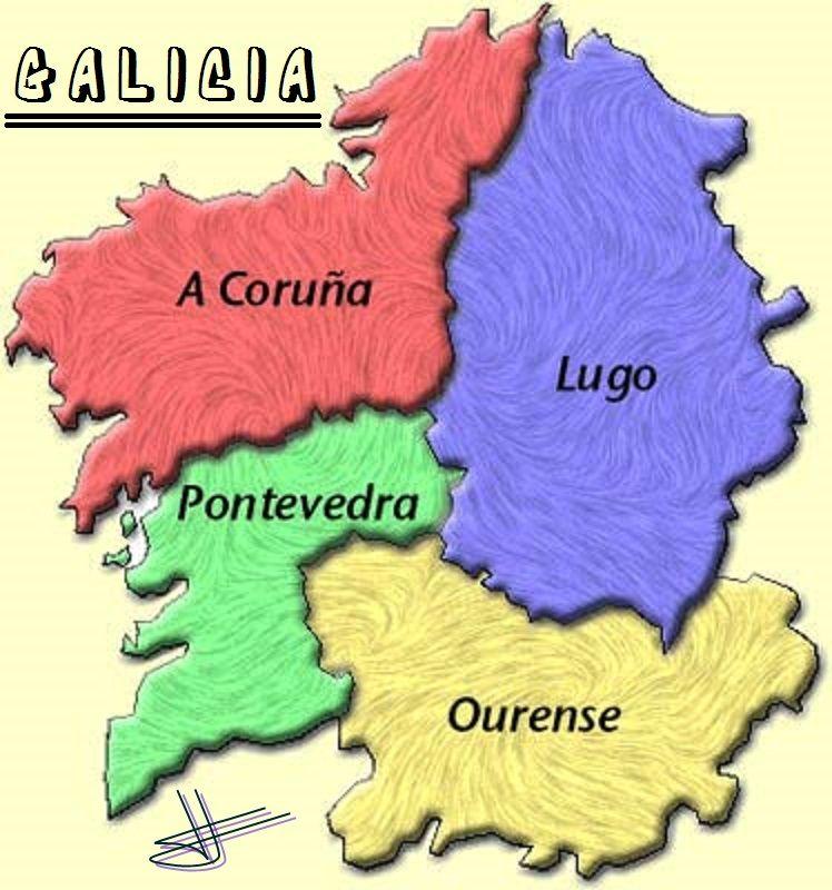 Mapa De Galicia Pueblos.Galicia Provincias En 2019 Mapa De Galicia Pueblos