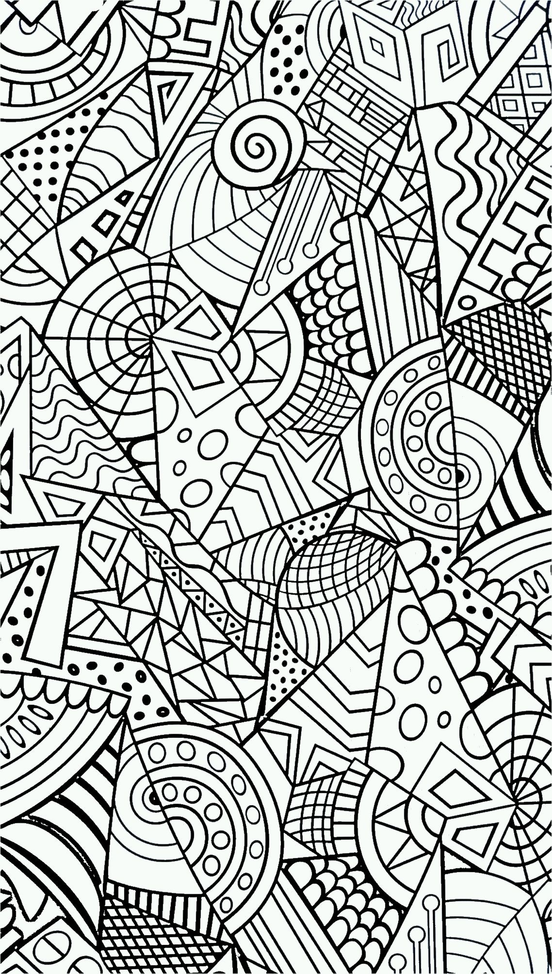 Colouring pages geometric patterns - Abstract Colouring Book Geometric Design Coloring Page