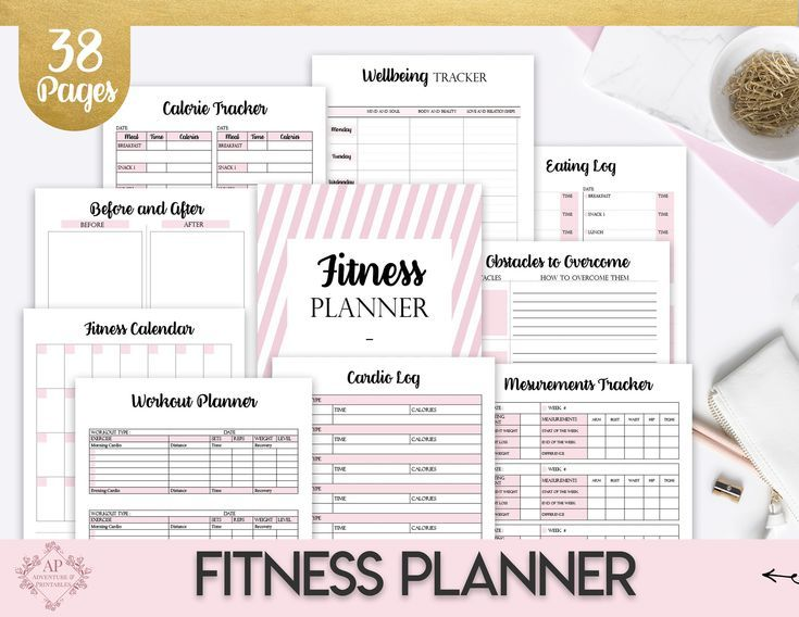 #Bundle #calorie #Classic #Create365 #Daily #Fitness #happy #Insert #MAMBI #Meal #Planner #Printable...
