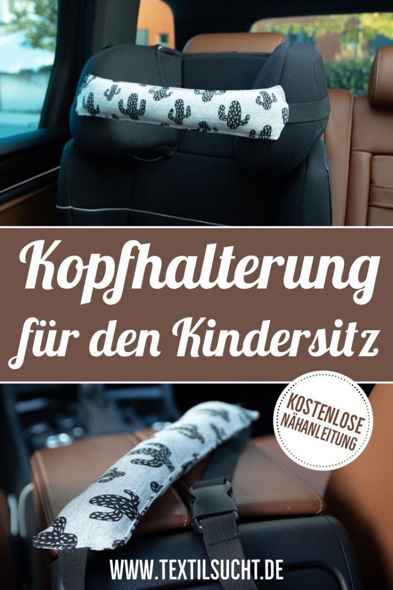 Nähanleitung: Kopfhalterung für den Kindersitz nähen #strickenundnähen