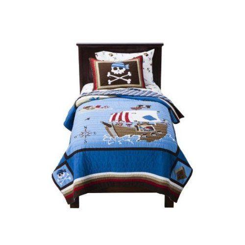 Exceptionnel Pirate Ship U0026 Crossbones Boys Full Quilt U0026 Shams Set (3 Piece Bedding) // Price: $161.33 U0026 FREE Shipping // #hashtag4