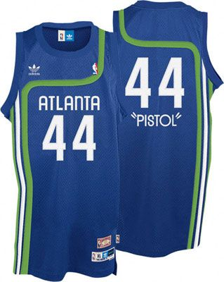 2fd6d07829d Pistol Pete - Atlanta Hawks Throwback