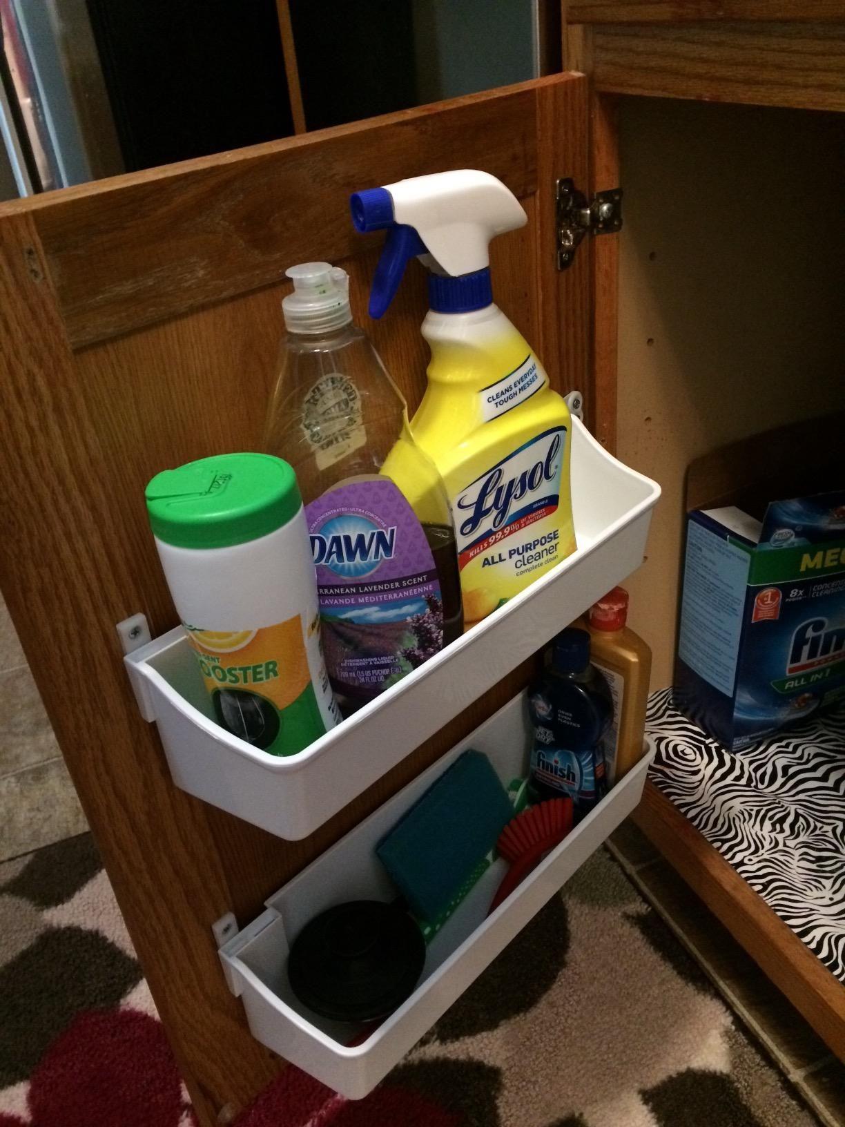 Rev-A-Shelf Door Storage Cabinet Organizer Tray Set: Kitchen ...