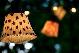 DIY project - These party lights were actually made from cupcake papers....so easy, so awesome!!!!