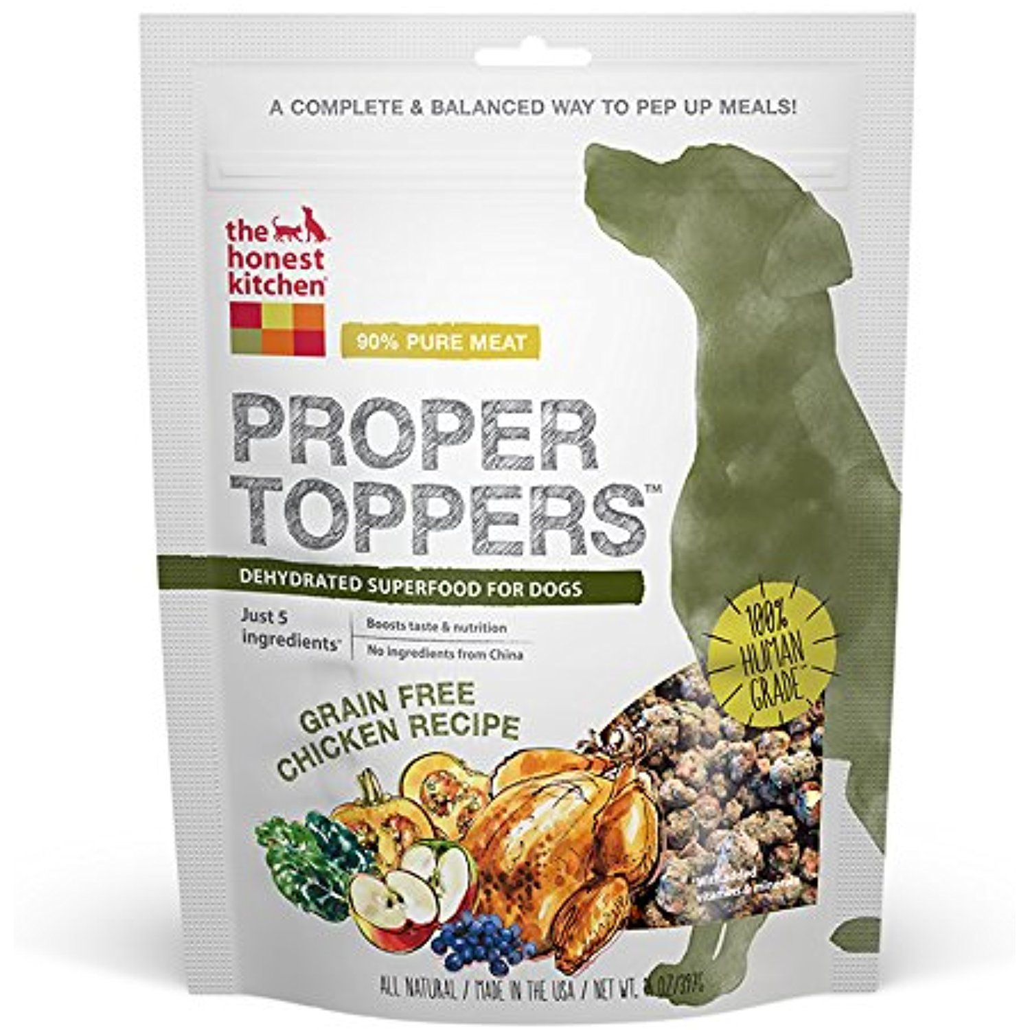 The Honest Kitchen Proper Toppers: Natural Human Grade Dehydrated Dog  Superfoods, Grain Free Chicken, 14 Oz @@@ You Can Read More Reviews Of The  Product By ...