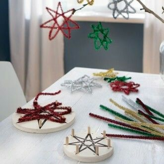 Sterne basteln mit draht weihnachten pinterest - Drahtsterne basteln ...