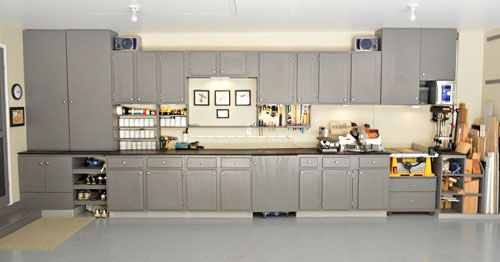 Recycled Kitchen Cabinets In The Garage