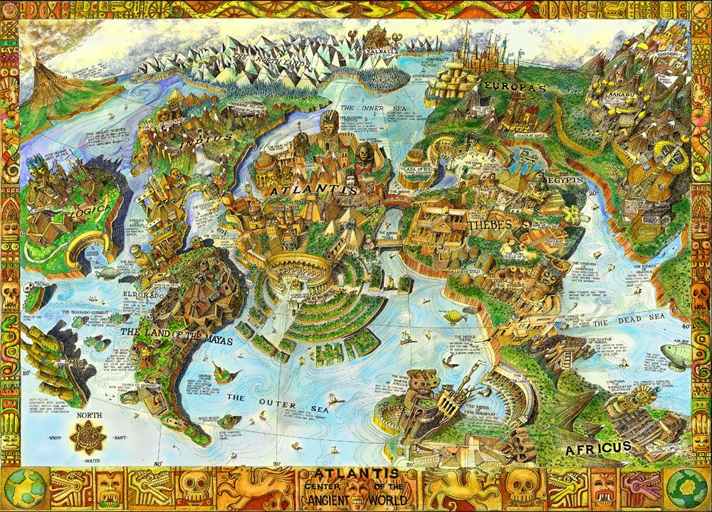 Buried Blueprints The Lost City of Atlantis  1000pc Jigsaw