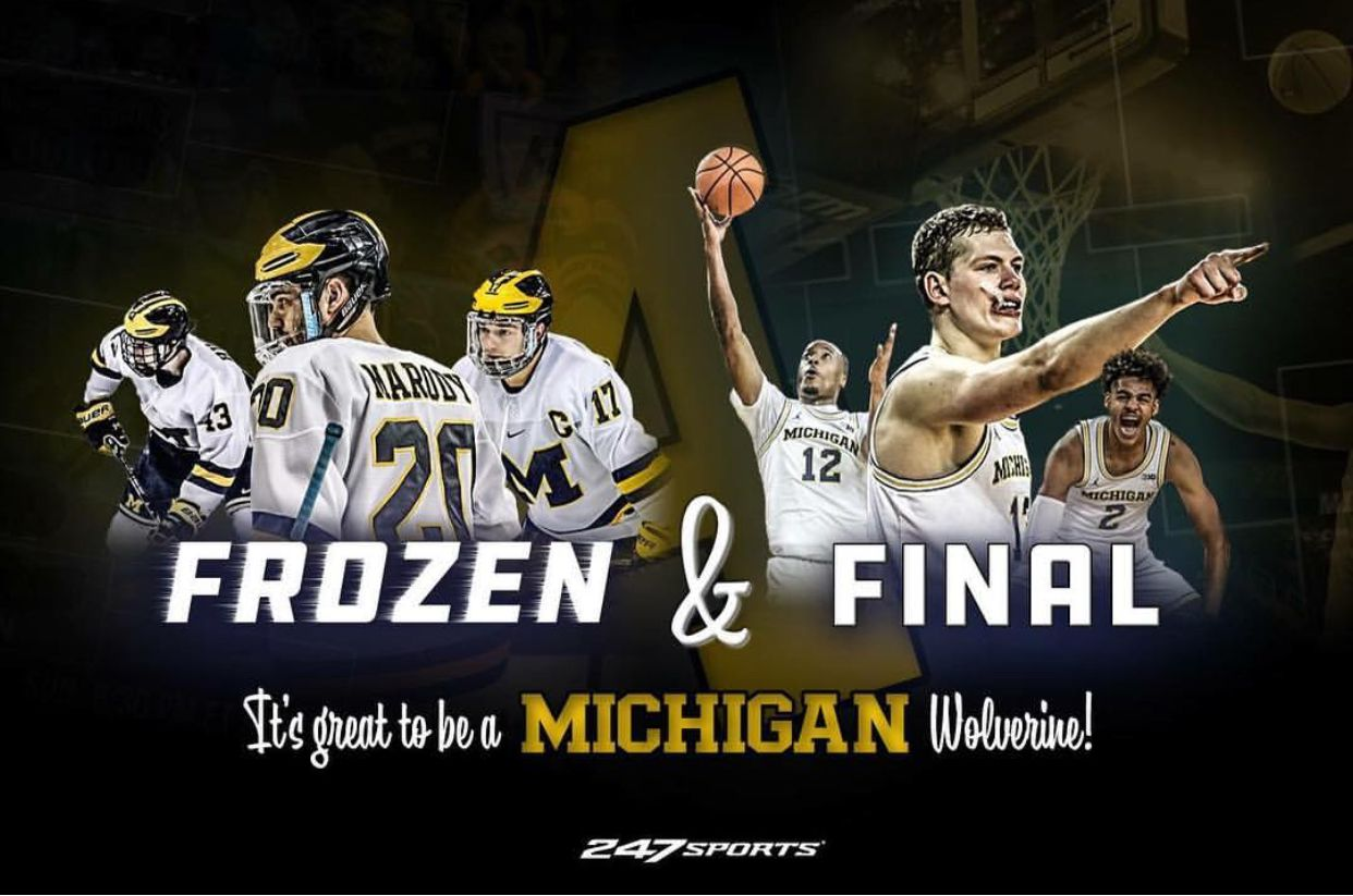 Final And Frozen Four Michigan Wolverines Michigan Hockey Michigan