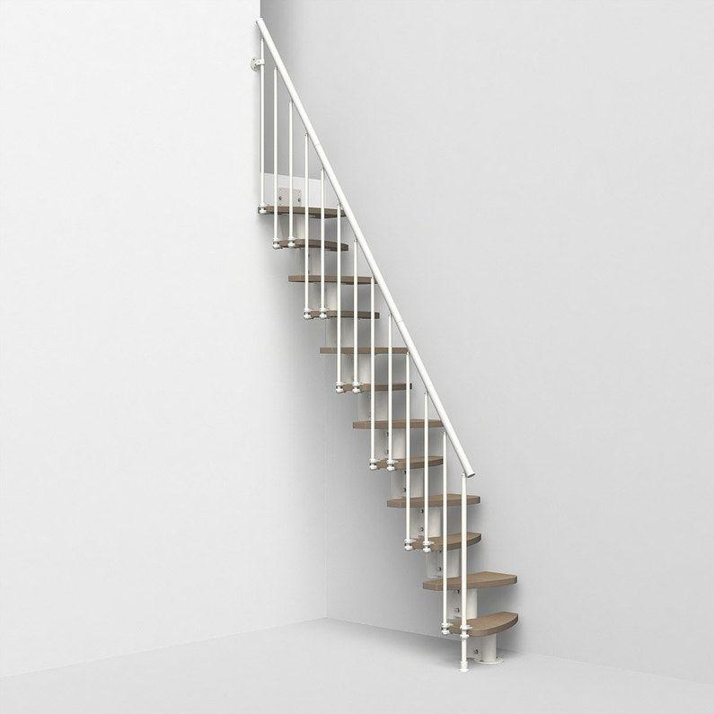 Escalier Droit Revers Acier Blanc Zen 2 Colonette 12 Mar Orme