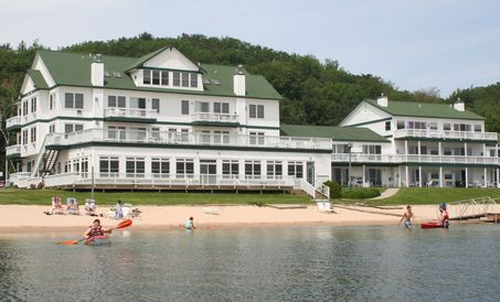 Families gather at Portage Point Inn in Onekama, Michigan