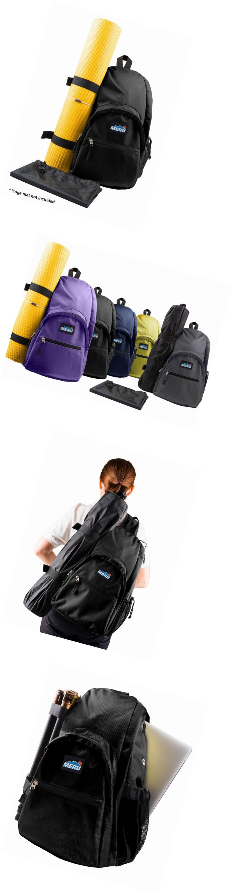 801518ab4f Mat Carriers and Bags 158929  Meru Yoga Sling Backpack - Waterproof  Crossbody Bag - Gym