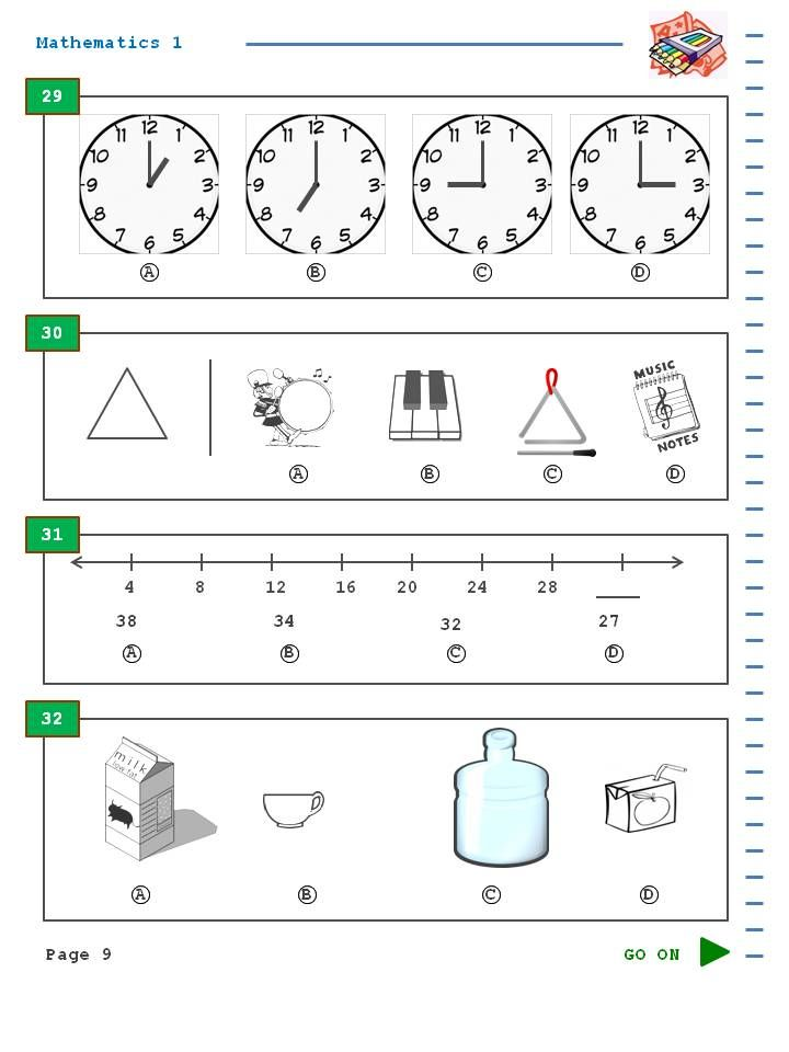 This SAT 10 practice test in reading for first grade is also a – Sat Worksheets
