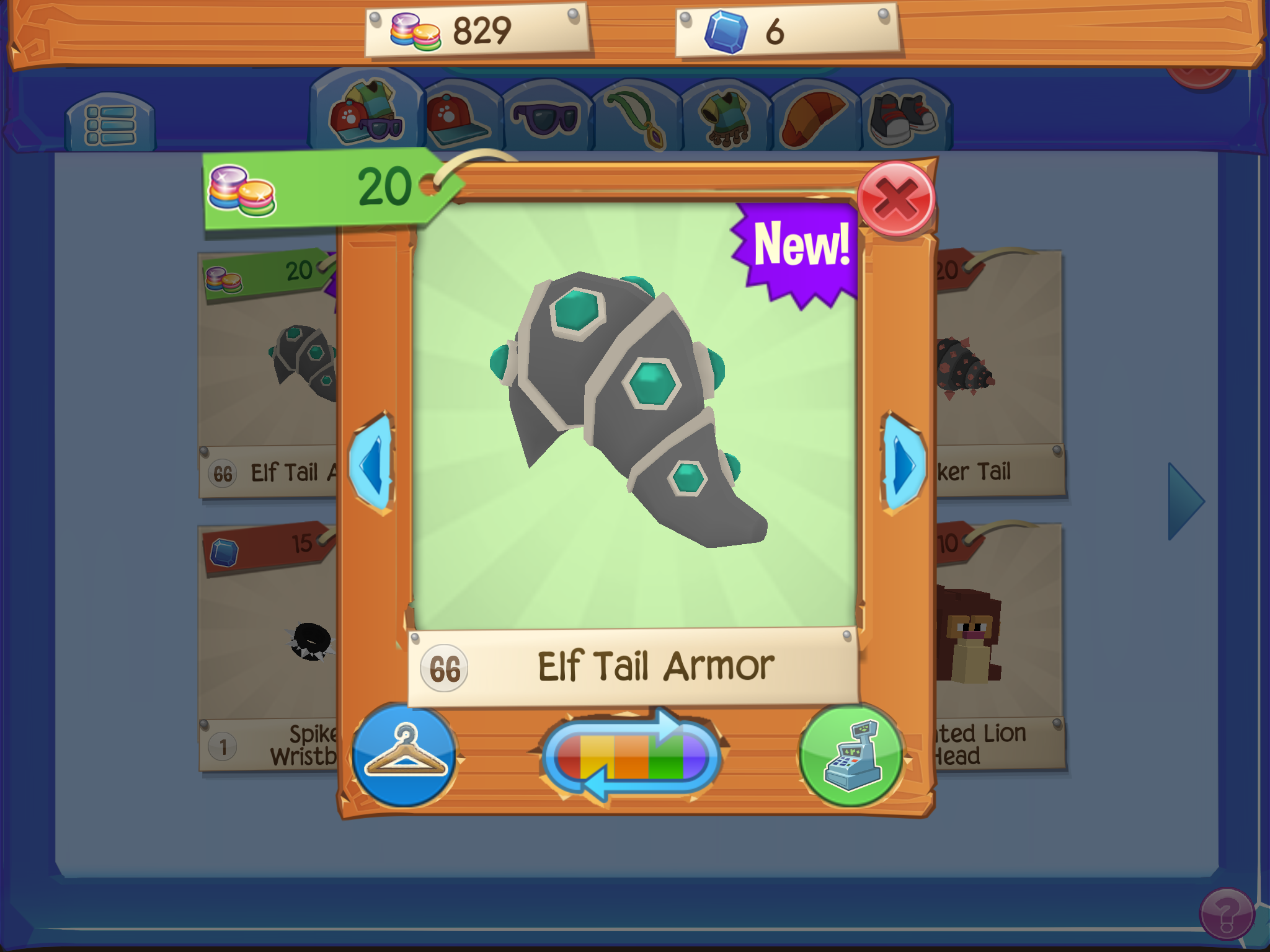 Animal Jam Play Wild Elf Tail Armor Glitched Price When It First