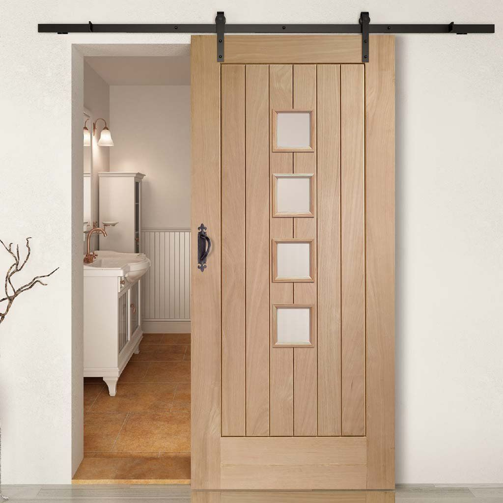 Double Sliding Door Track Contemporary Suffolk Oak 4 Pane Doors Obscure Glass Unfinished Sliding Doors Barn Style Sliding Doors Oak Doors
