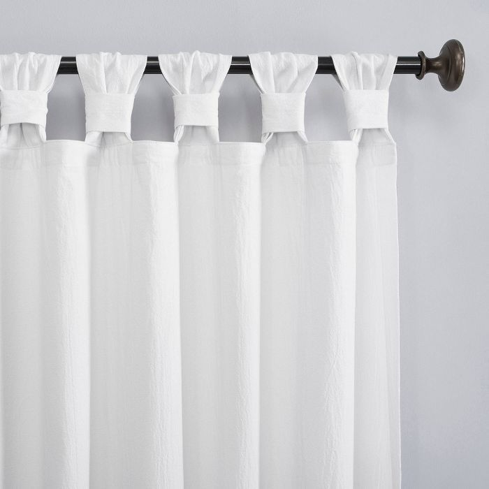 Washed Cotton Twist Tab Curtain Archaeo Tab Curtains Curtains White Curtains