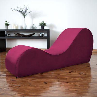 Latitude Run Symons Yoga Chaise Lounge Upholstery Wine Red In 2019 Chaise Chair Sofa Chair Lounge Sofa