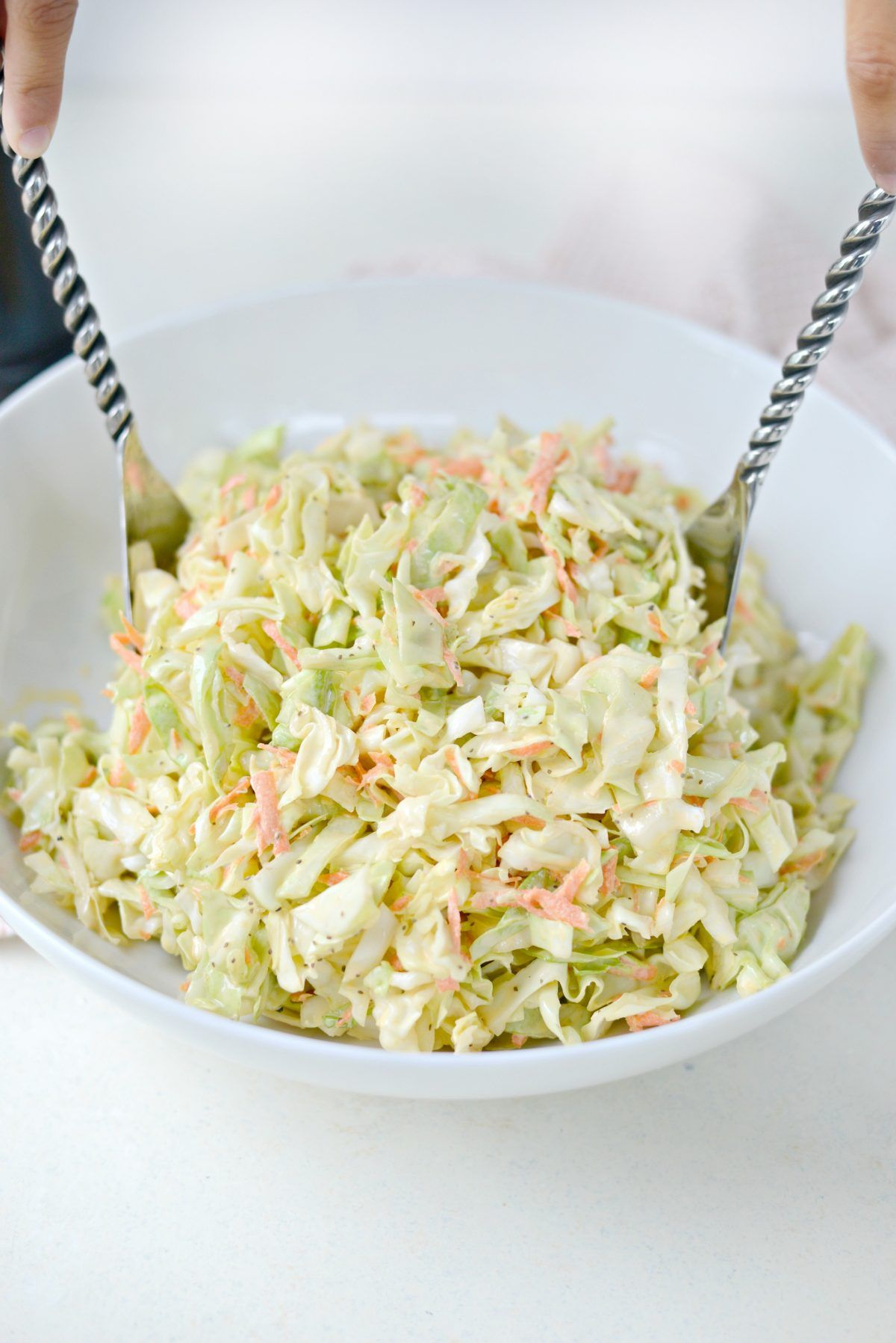 Classic Coleslaw Recipe With Homemade Dressing Recipe With Images Coleslaw Recipe Recipes Classic Coleslaw Recipe