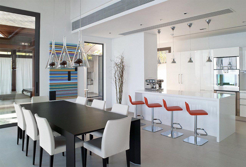 Cocinas abiertas que crean amplios espacios aires de Cocinas pequenas integradas en el salon