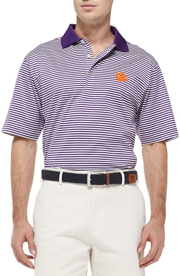 Peter Millar Clemson Gameday College Polo Shirt School Spirit