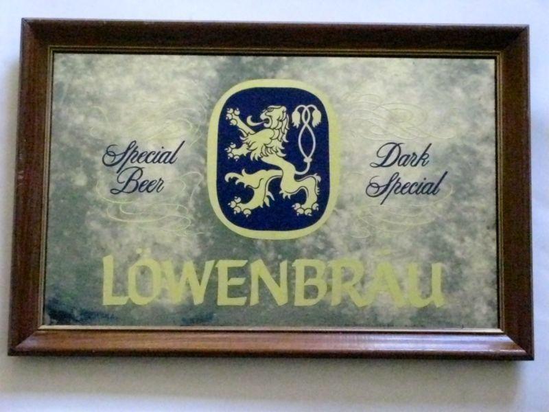 Olympia Beer Mirror Sign | Lowenbrau Beer Sign Mirror