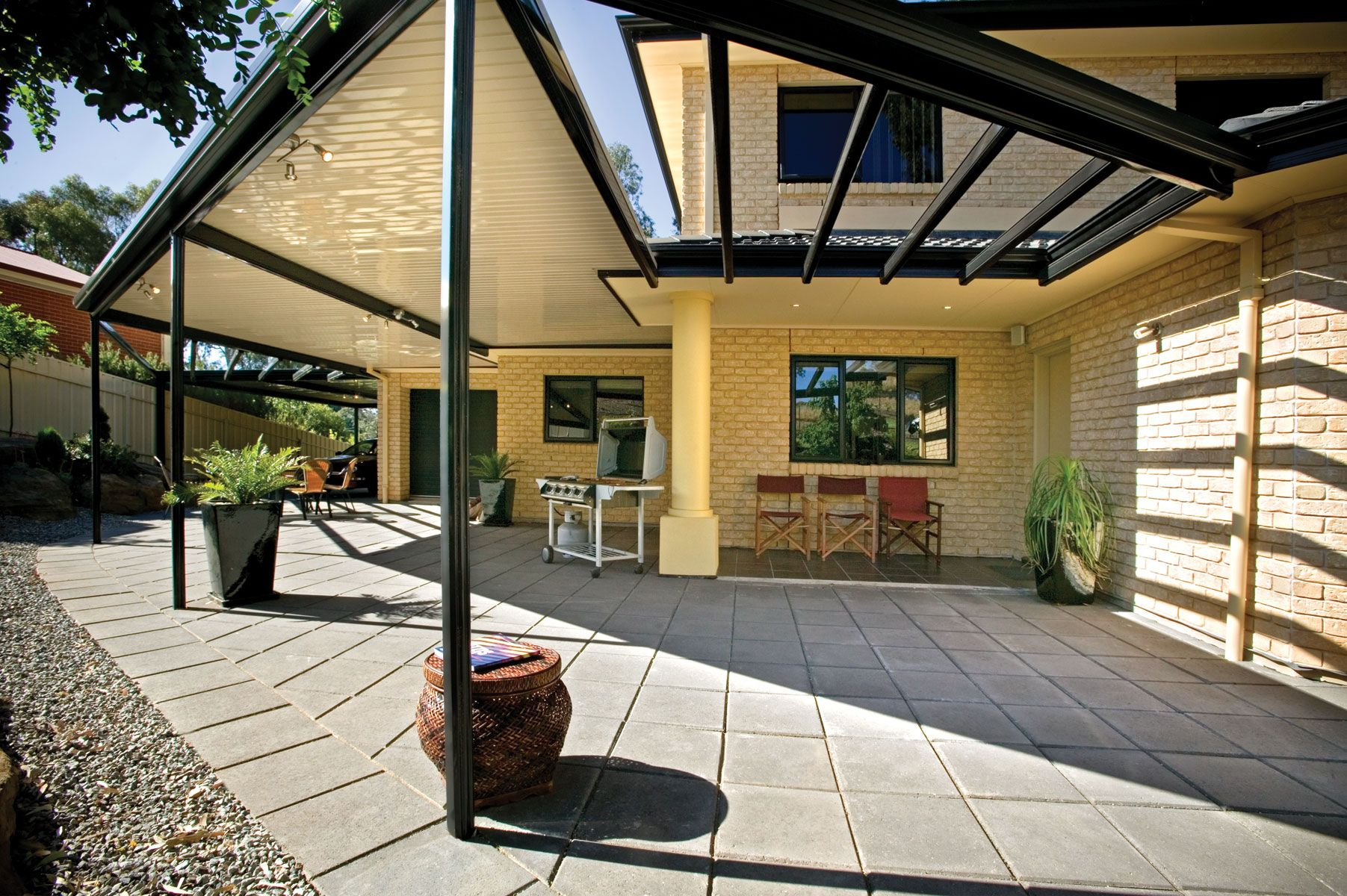 how to add a patio roof