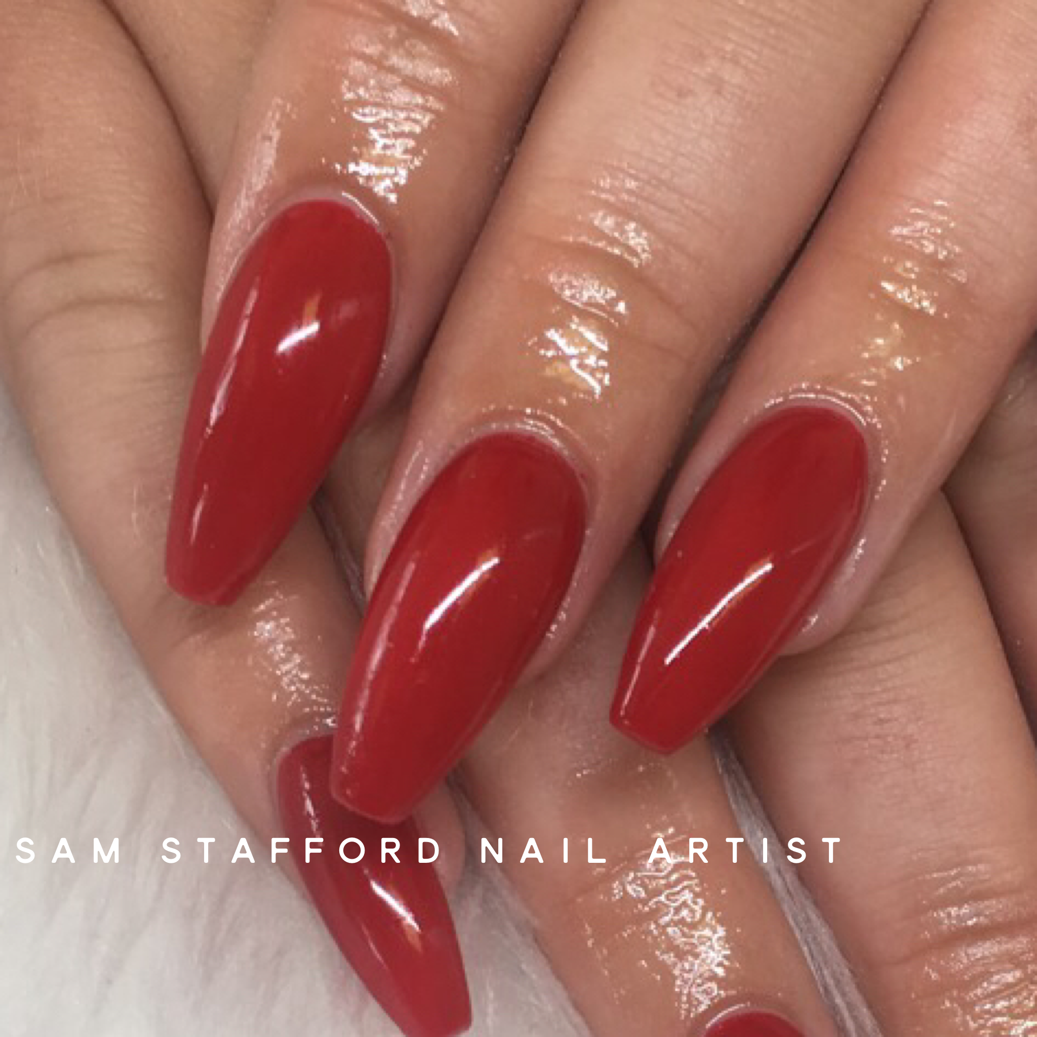 Red coffin nails   Blood Red   Pinterest   Coffin nails, Red nails ...