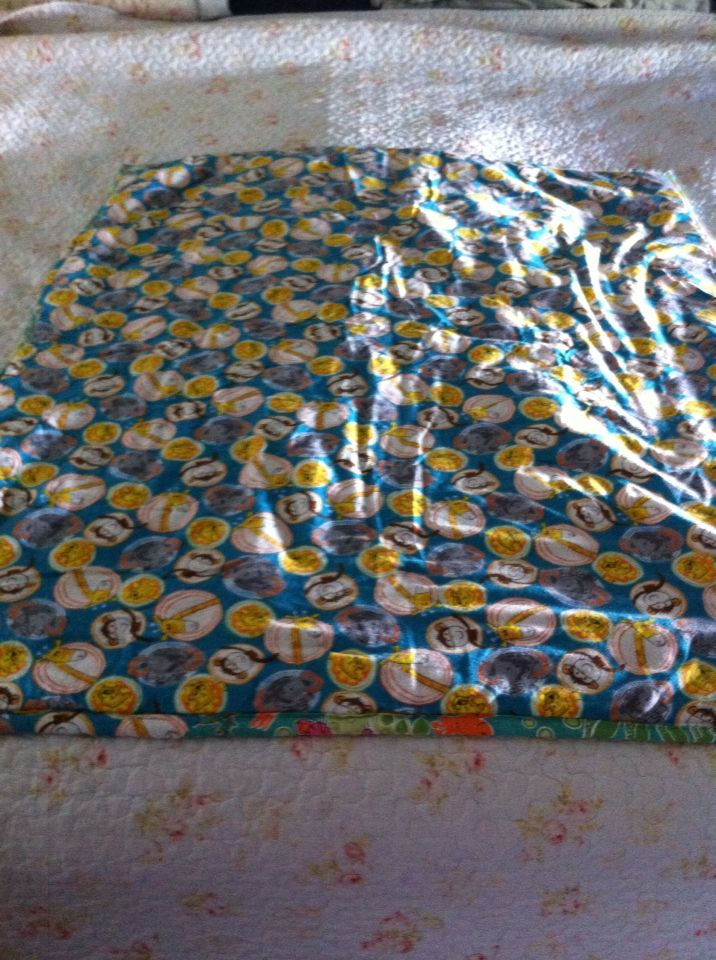 Tropical Baby quilt back