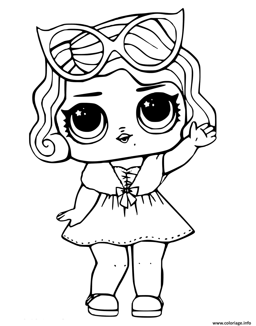 Coloriage Leading Baby From Lol Surprise A Imprimer Coloriage Poupees Lol Coloriage Kawaii